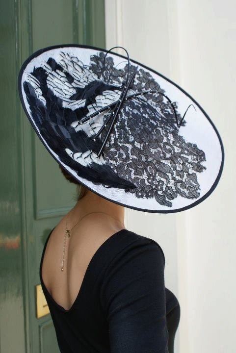 This would be a lovely way to upcycle a very special piece of lace. #millinery #judithm #hats