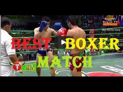 Kun Khmer Boxing  2015   Berd Kharm VS  Thai Boxer , Bayon TV Boxing