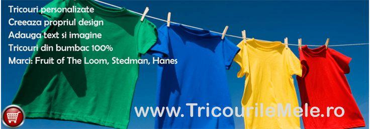 Tricouri Personalizate cu Imagini sau Mesaje. Creeaza-ti Tricoul Imprimat cu Mesajul care te reprezinta!