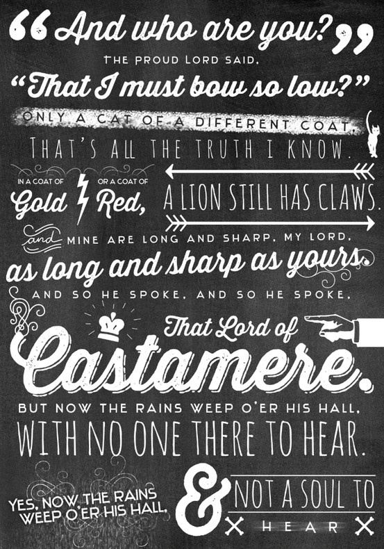 Rains of Castamere....I dont like that I like this song so much