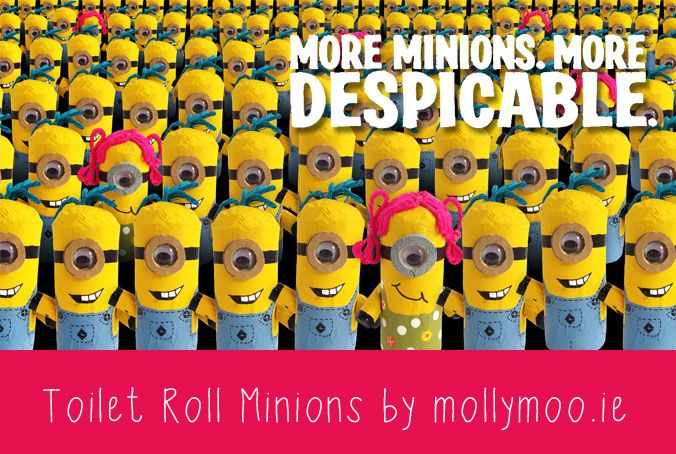 Toilet Roll Crafts for Kids - Despicable Me Minions
