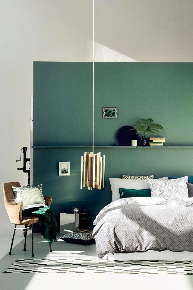 Emerald Accent Wall : emerald, accent, Accent, Ideas, You'll, Surely, Bedroom,, Living, Room,, Ideas,, Painted,, Wood…, Green, Bedroom, Walls,, Design,, Walls