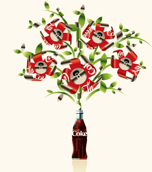 Coke Tin Cans Bloom by Mads Berg @Soda Pop Chick