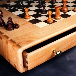 Chess Or Game Table by Edward Rizzardi