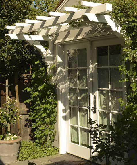 Trellis over french doors. FGY: Fergus Garber Young | Portfolio | Renovation / Addition | Santa Rita Cottage