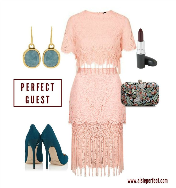 Pink Lace Wedding Guest Outfit