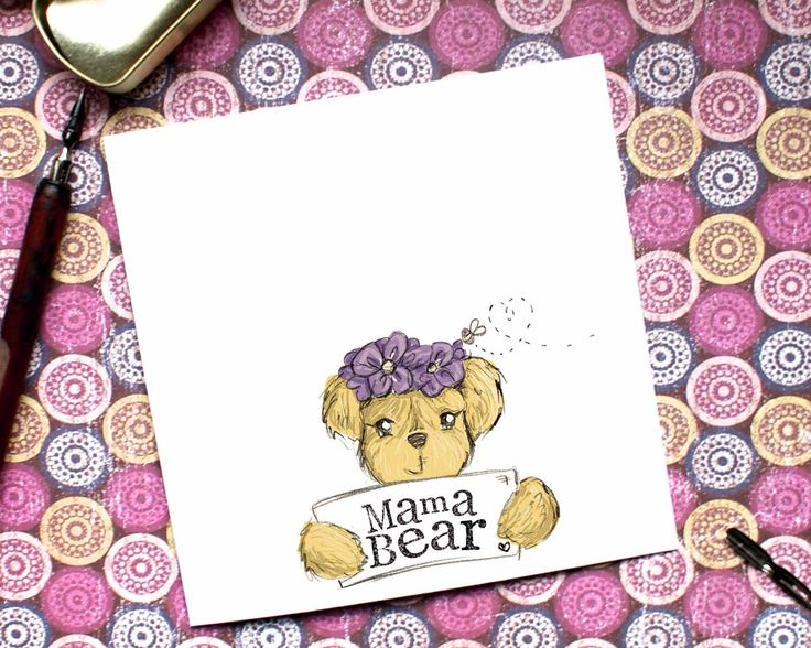 Mama bear Card, First Mothers Day, Mothers Day Card, Cute Mum Card, Cute BearCard,  Mum Card, Mom Card, Card for her, Birthday Card, by BEEcardsUK on Etsy https://www.etsy.com/uk/listing/514925013/mama-bear-card-first-mothers-day-mothers