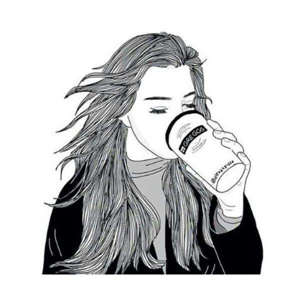 tumblr art black and white girl Google Search art