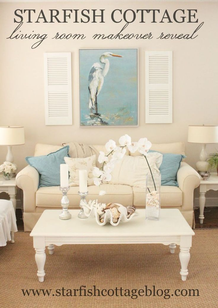 Coastal Living Room Makeover