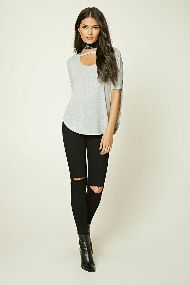 Contemporary Marled Dolman Top