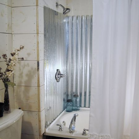 Corrugated Sheet Metal In Bathrooms Bathrooms Shower