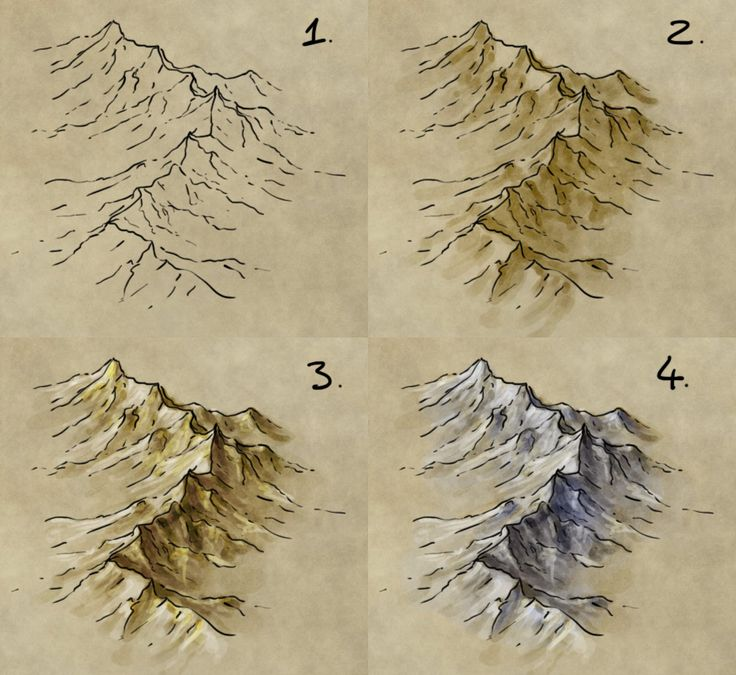 "I've written up a couple of tutorials before on drawing isometric mountain ranges for fantasy maps – but never more than the pen and ink stage. I've had a few requests for how to take this to the next step and colour the mountain ranges. Note that I use a graphics tablet. You can do this with … Continue reading ""How to draw, shade, and colour a mountain range"""