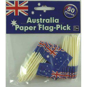 Party Time Celebrations  - Australian Flag Picks, $5.95 (http://www.partytimecelebrations.com.au/australian-flag-picks/)