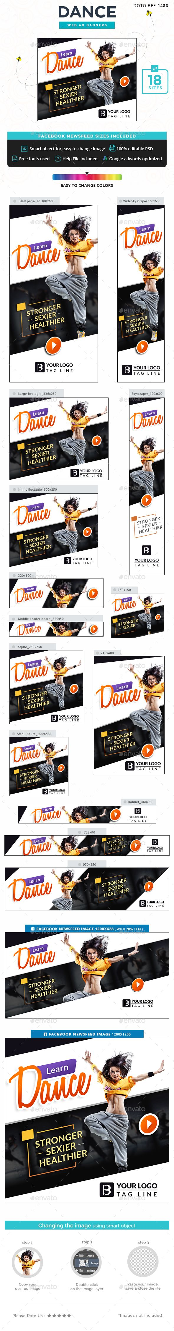 Dance Web Banners Template PSD. Download here: http://graphicriver.net/item/dance-banners/16618138?ref=ksioks