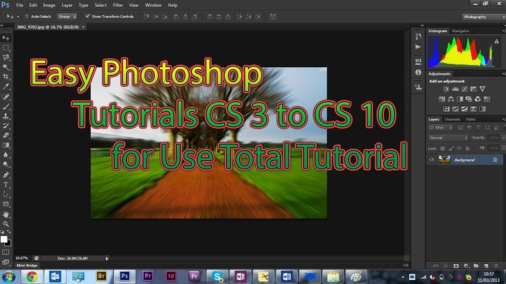 easy photoshop tutorials CS 3 to CS 10 for Use Total Tutorial
