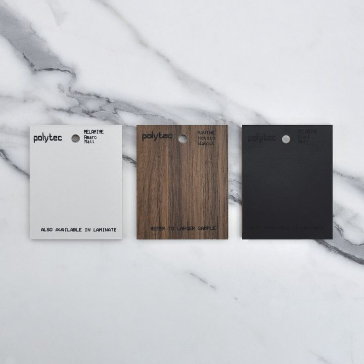 A colour palette of elegance and sophistication. Amaro Matt, Notaio Walnut Ravine and Black Matt