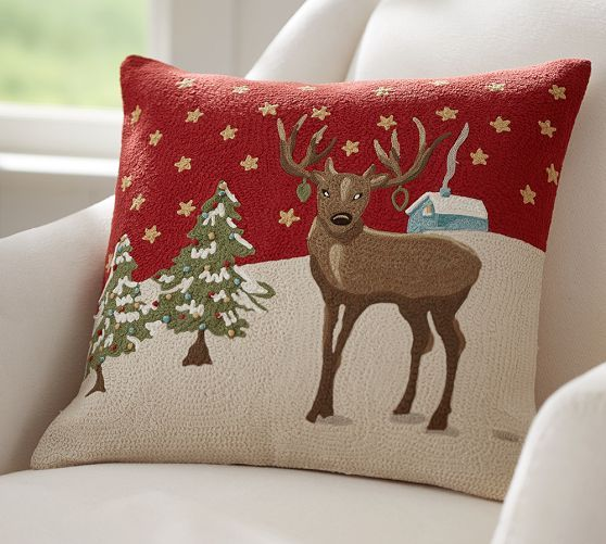 222 best Christmas Pillows images on Pinterest Christmas pillow - decorative christmas pillows