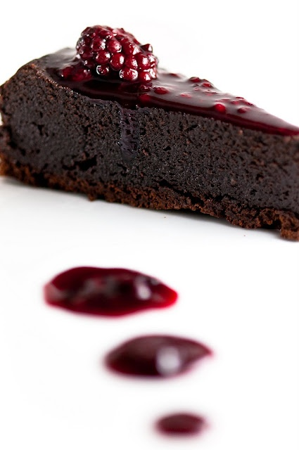 Chocolate Orbit Cake with Blackberry-Cassis Sauce - must try on an indulgent day!