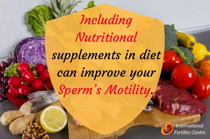 Including nutritional supplements in diet can improve your sperm's motility. #NutritionalSupplements #SpermMotility #Diet #InternationalFertilityCentre #Delhi #India