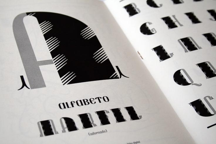 Marfil. A typeface based on SuperVeloz.
