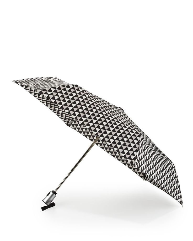ShedRain Kiera Geo Print Auto Stick Umbrella, Black/Gray