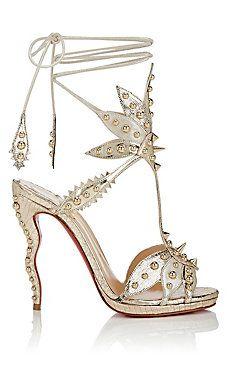Venenana Leather Ankle-Tie Sandals