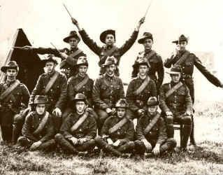 Lawrence (front row left) in the Oxford University Officer Training Corps - Signals Section c1910