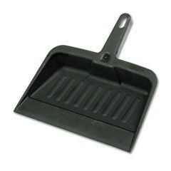 Heavy-Duty Dustpan, 8-1/4 Wide, Polypropylene, Charcoal by Rubbermaid. $7.90. Handy dustpan features a tapered front edge to help simplify sweeping-up. Heavy-duty, moderately flexible plastic provides commercial-grade durability. Lanyard handle-hole allows you to hang and store the pan out of the way. Material(s): Polypropylene; Width: 8 1/4 .