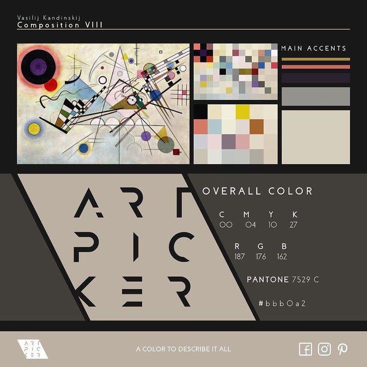 Composition VIII by Vasilij Kandinskij | C 00 M 04 Y 10 K 27 | R 187 G 176 B 162 | PANTONE 7529 C | #bbb0a2