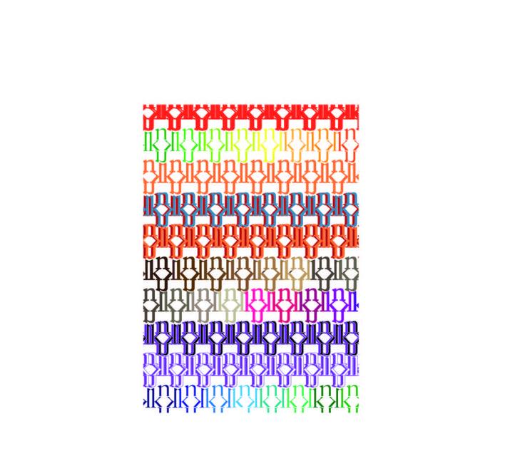 pattern 1 colorato ho scelto tutti questi colori perchè se penso all'inchiostro ad esempio per fare tatuaggi penso a tutti i colori più vivaci nelle loro sfumature