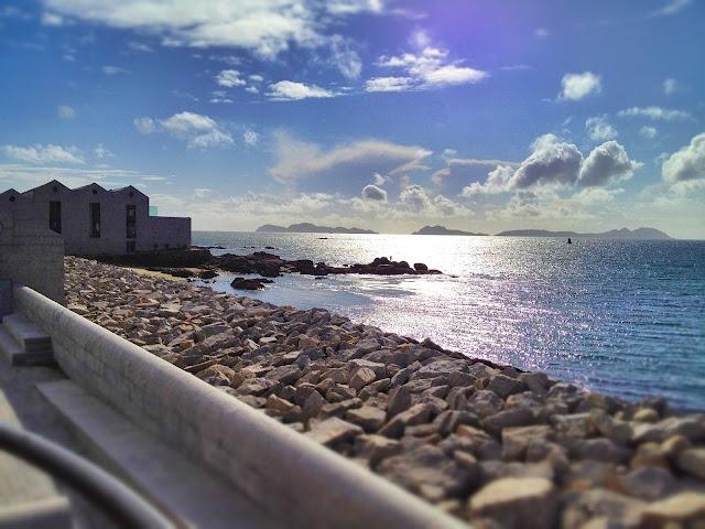 Islas Cíes desde el Museo del Mar