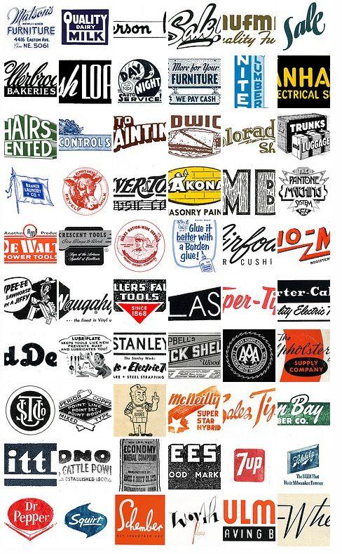 1950′s and 1960′s Retro Catalog & Machinery Logos