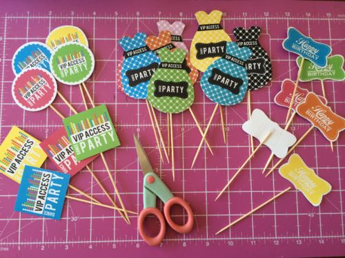 DIY FREE DANCE PARTY CUPCAKE TOPPERS - JustLoveDesign