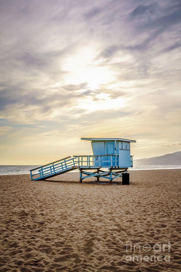 Zuma Beach Liuard Tower 2 Malibu Sunset Photograph By Paul Velgos Fine Art America