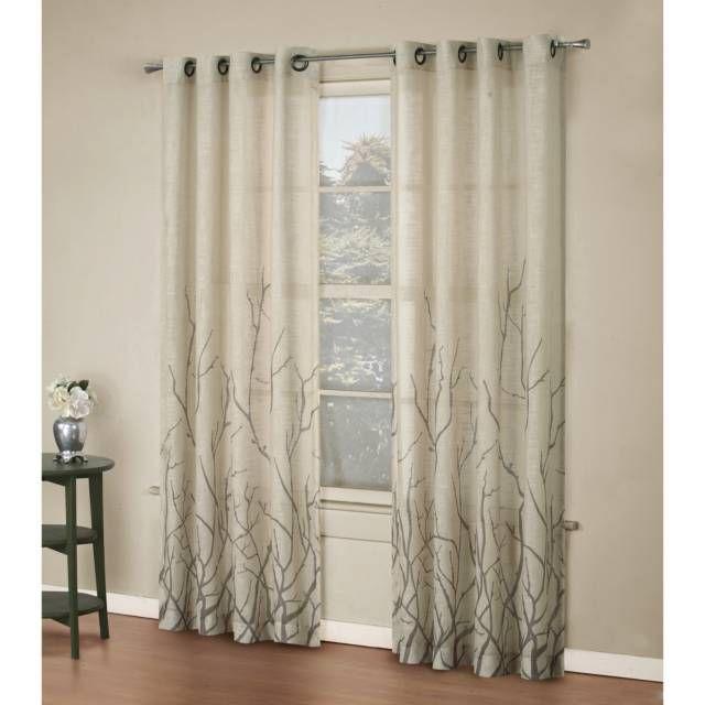 Alton Print Grommet Window Curtain Panel