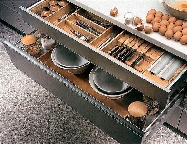kitchen storage ideas drawers organizers space saving ideas modern kitchen