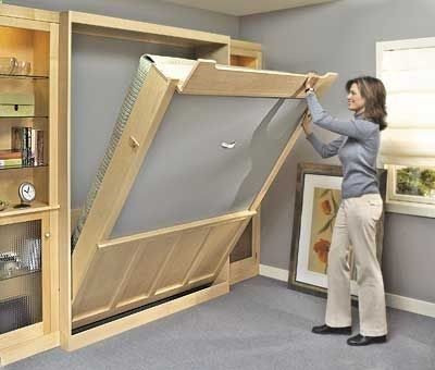 Murphy bed plan- I want to do this with a chalk board on the back side ...