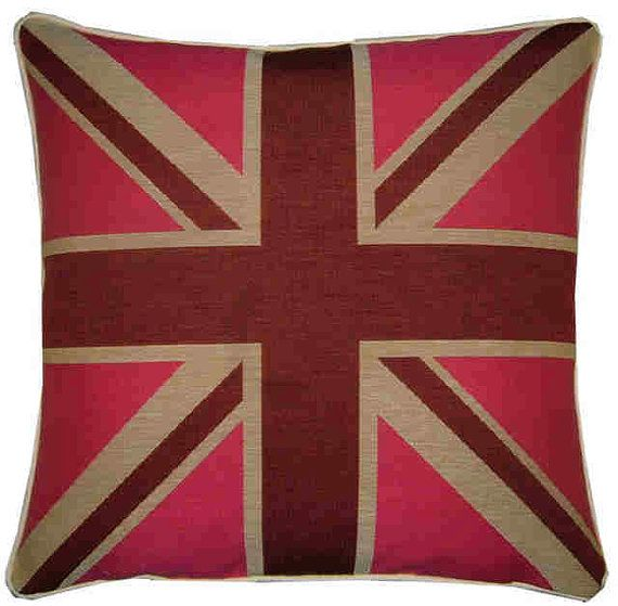 Union Jack Pink Square Tapestry Cushion Pillow Sham Cover