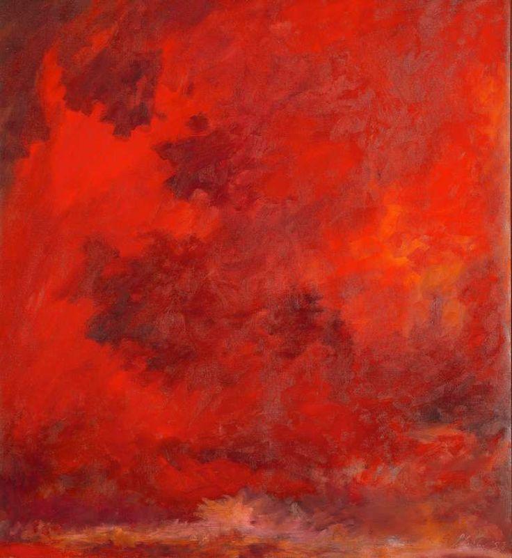 Jon Schueler: Red Sky, 1958.