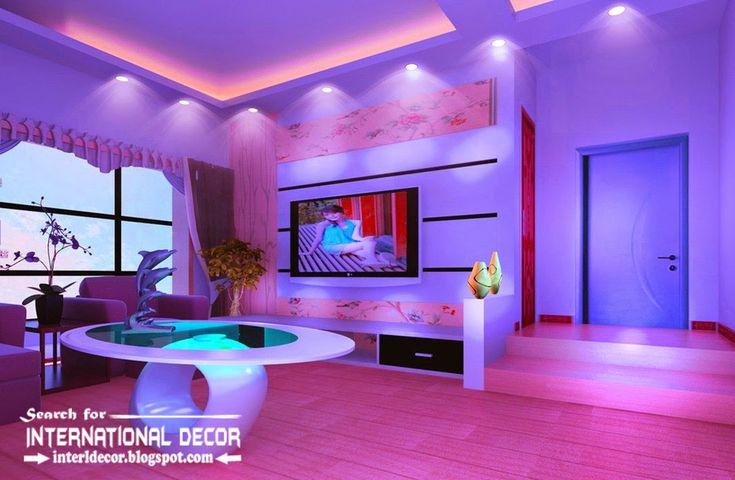modern suspended ceiling spotlights for living room ceiling lighting ideas