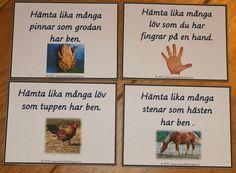 Utomhus matematik: uppdragskort till förskolebarn