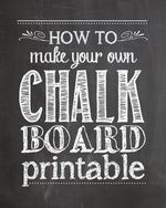 How to Make a Chalk Board Printable