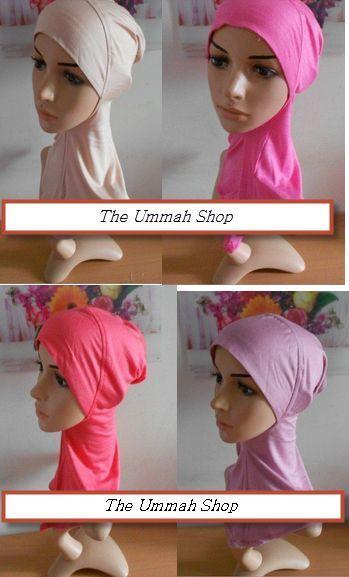 Ninja Underscarf cotton neck cover sport hijab one peice muslim bonnet cap islam #ninja #sporthijab