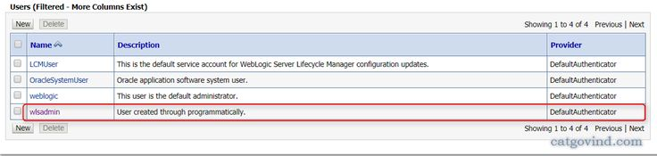weblogic jmx API Example: How to create user, Add Administrator Group, Update password and delete user in WebLogic Security Realms