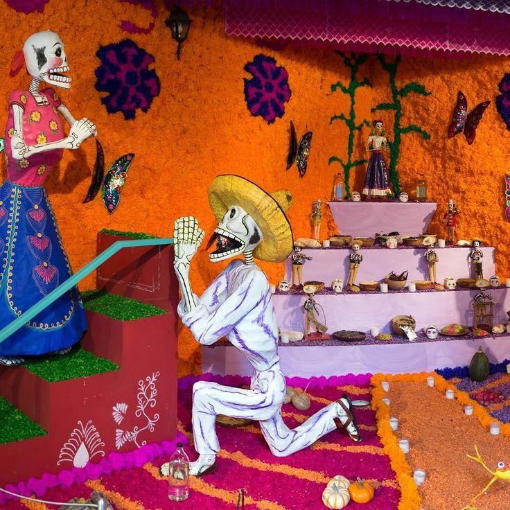 Essa foto exemplifica as diferentes tradições culturais a cerca da morte. Esse altar colorido e alegre é típico dos Días de Los muertos o Dia de Finados mexicano. No México essa é uma celebração. A festa que mescla crenças católicas com  crenças indígenas honra os defuntos nos dias 1 e 2 de novembro com comidas especiais bolos dança música doces preferidos dos mortos e outras coisas que eles gostavam como tequila ou cigarros. Segundo a crença popular nos Días de Muertos aqueles que já…
