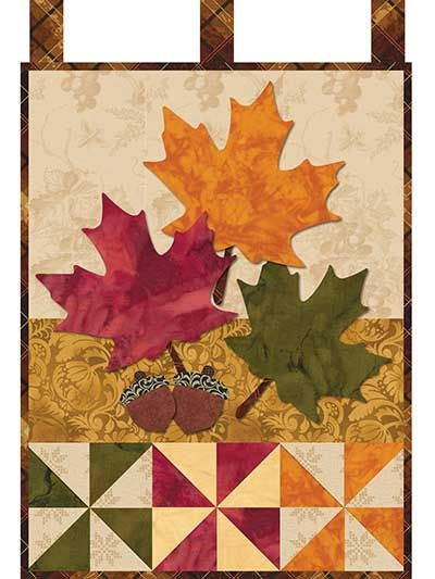 This rich and simple laser-cut quilt kit features big and bright maple leaves that are sure to make any room in your home more festive! The fabric is laser cut, so all you have to do is peel off the paper, place the pieces on the background, iron in ...
