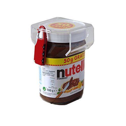 Nutella lock chocosafe® Nutella Schloss rot, mit rotem Vorhangschloss & individueller Gravur
