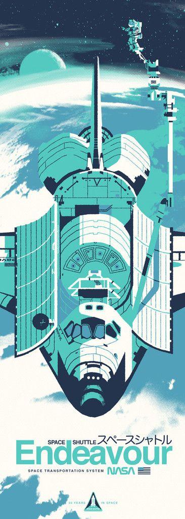 "Kevin Dart ""Space Shuttle Endeavour"" Print"