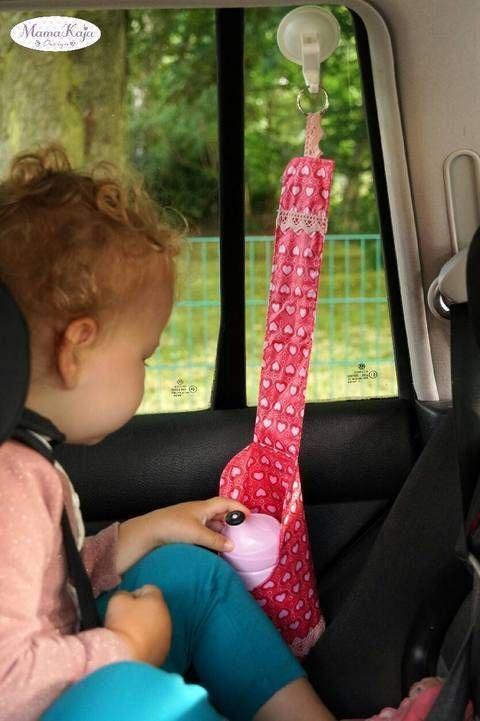 """Nähe dir ganz einfach einen """"Take it Easy"""" Flaschenhalter für das Auto. Schnittmuster und Anleitung findest du auf Makerist."""