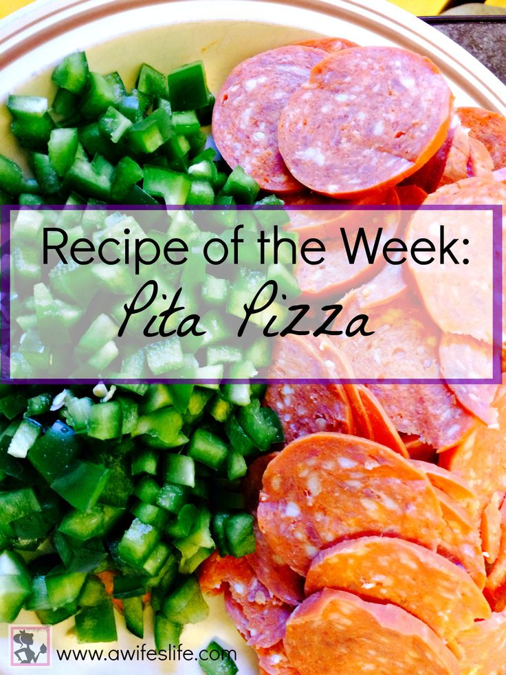 Healthy and wallet friendly pita pizza at www.awifeslife.com